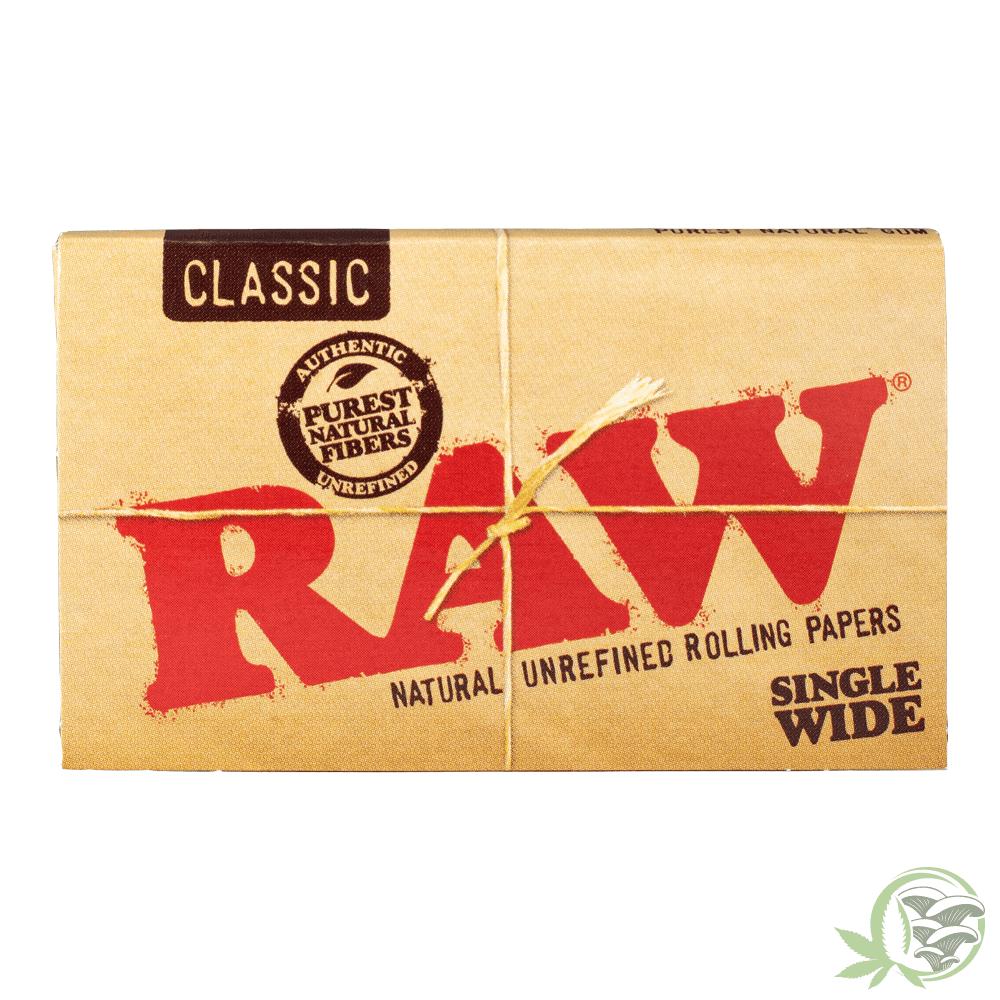 Raw Natural Rolling Paper at Sacred Meds
