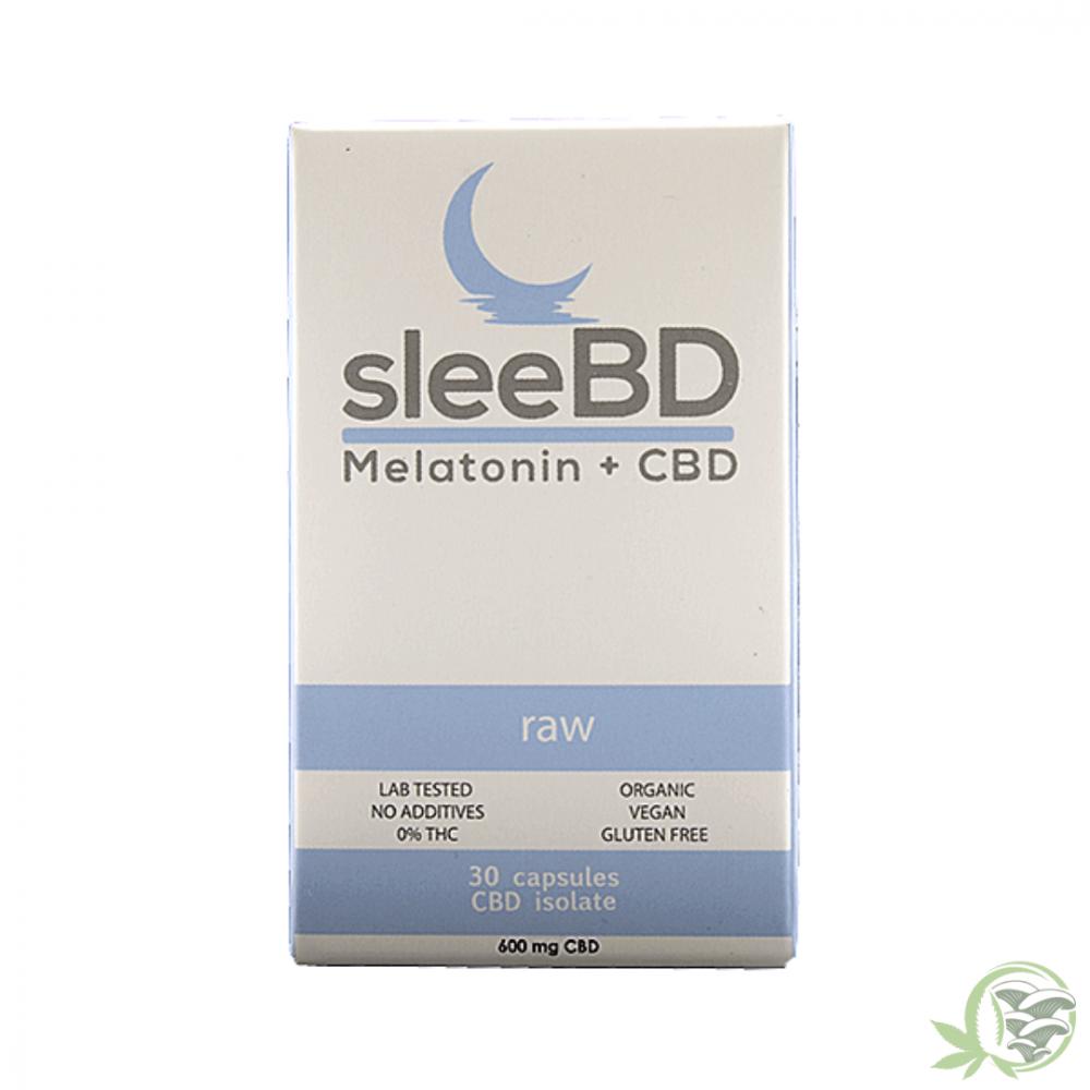 SleeBD Melatonin and CBD Capsules