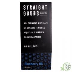1g Vape Cartridge Blueberry OG Indica by Straight Goods at SacredMeds