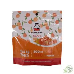 Science Lab Klar Gummies Fuzzy Peach 300mg THC