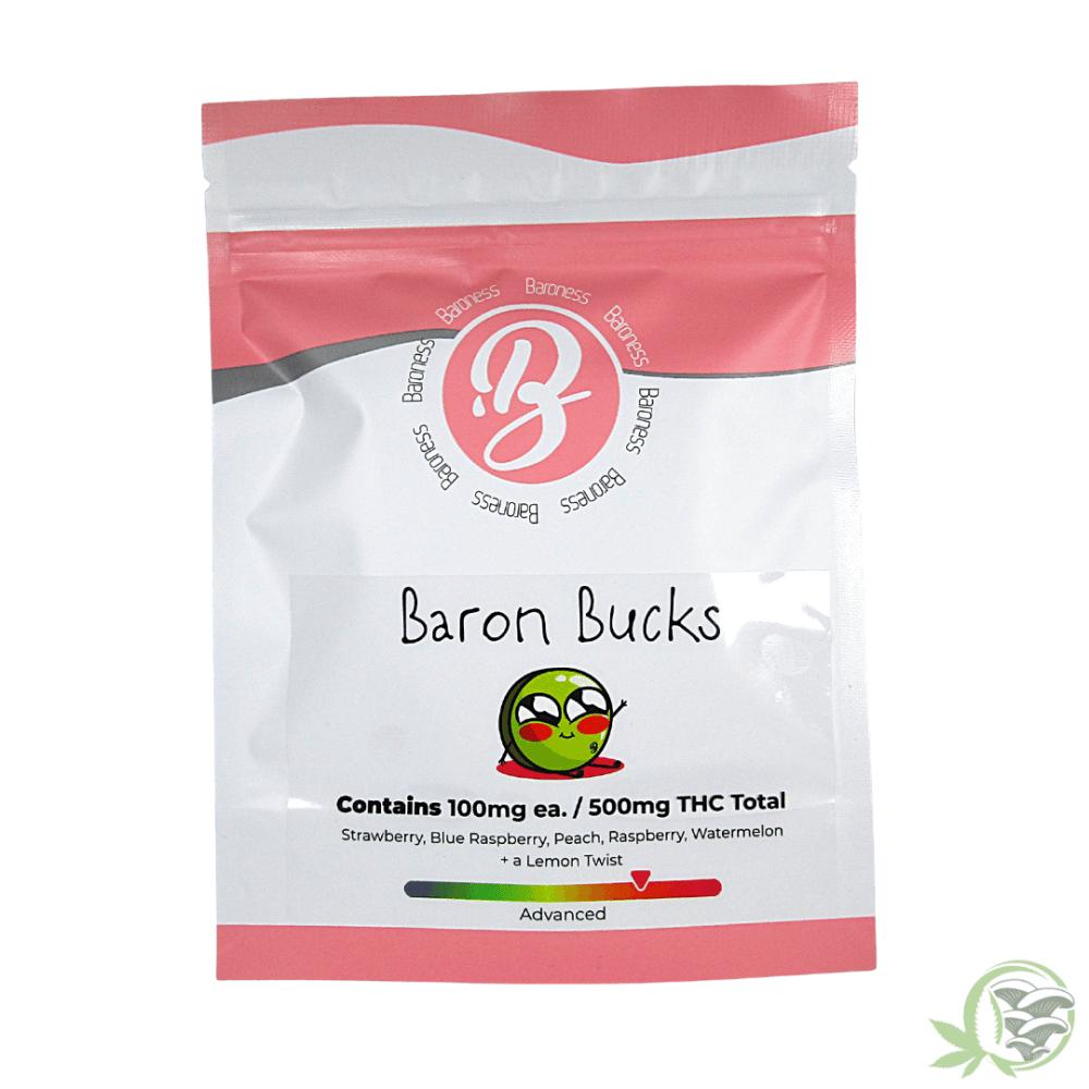 baroness gummies baron bucks 100mg thc