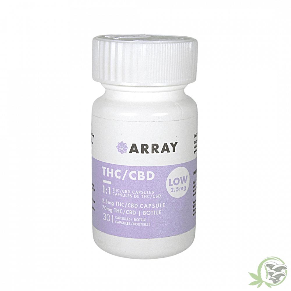 THC CBD 2.5mg Capsules By Array