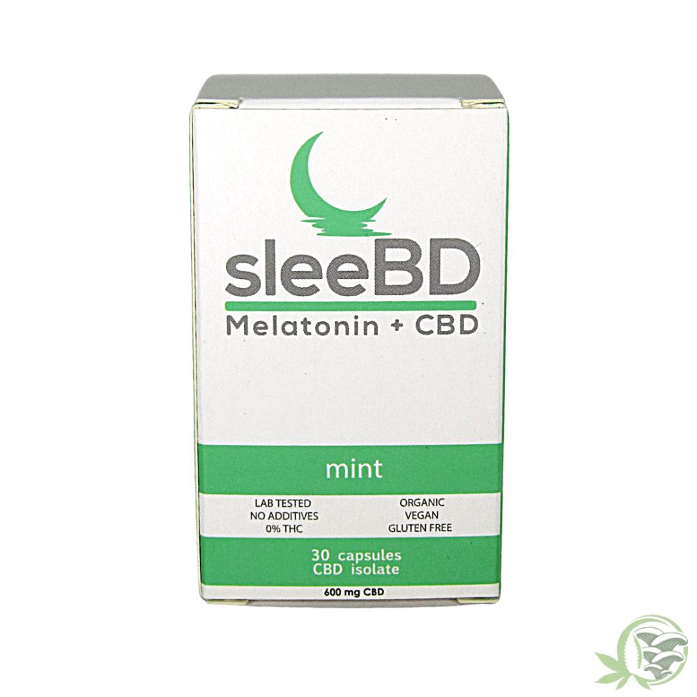 SleeBD Mint Melatonin and CBD Capsules
